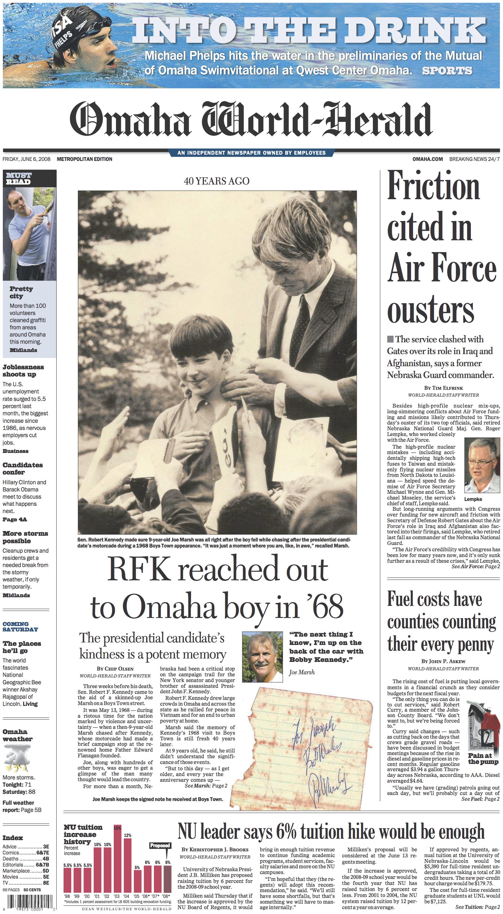 Nebraska Front Pages – Khristopher J  Brooks